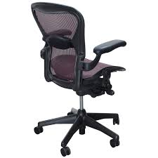 Herman Miller Aeron Used Size B Task Chair, Garnet   National ...