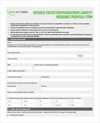 42 insurance proposal form example public liability insurance form