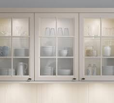 image of install glass inserts for kitchen cabinets