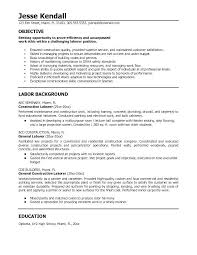 Resume Templates For Construction Best Resume Samples For Construction Workers Packed With Construction