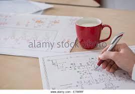 circuit diagram stock photos circuit diagram stock images alamy engineer analysing wiring diagram munich bavaria stock image
