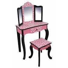 Kids Bedroom Vanity Fantasy Fields Bouquet Girls Oval Mirror Bedroom Vanity Stool
