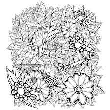 Kleurplaat Bloemenkrans