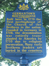 City Light Church Philadelphia Germantown Meetinghouse This Marker Is Located At 6611