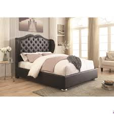clarice black upholstered bed