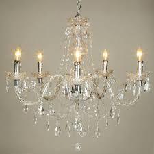 crystal acrylic chandelier 5 lights at lightingbox canada pertaining to elegant home acrylic crystal chandelier plan