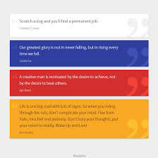 Quotation On Design Material Quotation Cards Jquery Css Html Pinterest Web