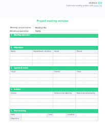 how to take minutes for a meeting template how to run a project meeting 6 important tips 2 free