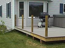deck with handrail support posts before installing new synthetic handrail deck railing r56