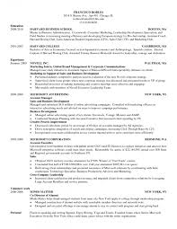 Hbs Resume Format Harvard Business School Template Doc Pdf Classy