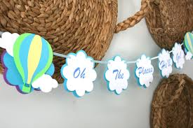 Turquoise Baby Shower Decorations Oh Boy Banner Etsy