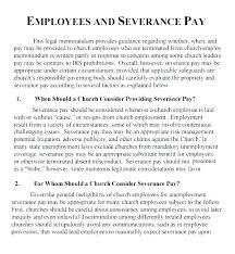 Severance Package Template Employment Package Template