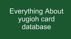 yugioh card database