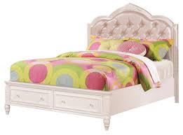 white full storage bed. Coaster Caroline Full Storage Bed In Painted White 400721F E