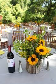 Sunflower Decoration For Kitchen Sunflower Centerpieces With Wooden Bases Wedding Pinterest