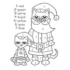 Pete The Cat Saves Christmas Coloring Pages Coloring Pages
