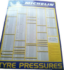 Michelin Tyre Pressure Wall Sign Blue Hg Automobilia