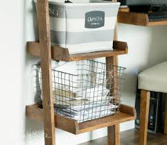 leaning ladder wall bookshelf