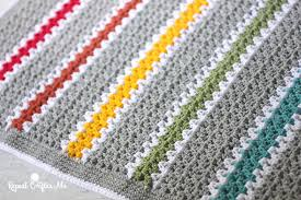 V Stitch Crochet Pattern Beauteous Crochet Vstitch Rainbow Blanket Repeat Crafter Me