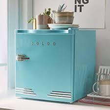 the retro mini fridge with built in bottle opener