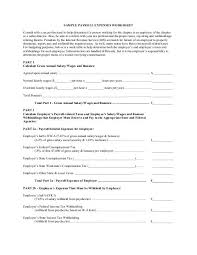 Payroll Tax Worksheet Sample Payroll Expenses Worksheet Consult With A Tax