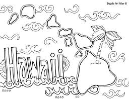 Hawaii Coloring Page Eassume Com Fonts More Pinterest