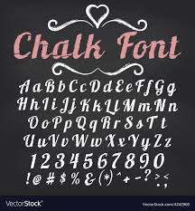 chalkboard fonts free alphabet chalk font on blackboard
