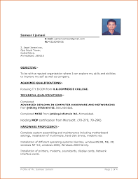 Simple Resume Format Download In Ms Word Simple Resume Format Download In Ms Word Business Template 5