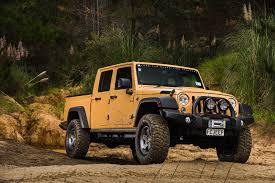 it s the double cab ute version of jeep s four door wrangler unlimited something pa pany fiat chrysler has been teasing jeep s legions of