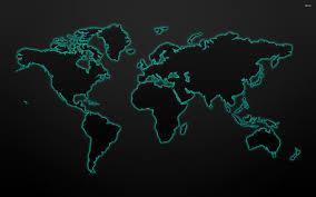 glowing world map wallpaper 2560x1600