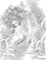 Coloring Pages Of Real Mermaids Mermaid Coloring Pages Realistic