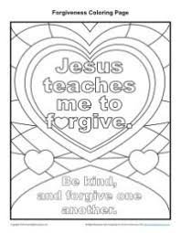 Jesus Teaches Me To Forgive Printable Coloring Page Lord Jesus
