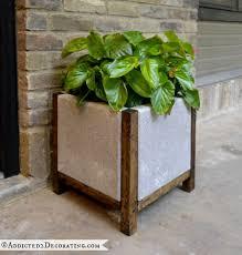 large concrete planters diy for rectangle shape simple design front door planters