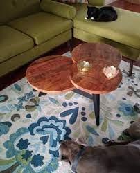 coffee table wood and metal
