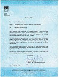 Letter Of Appreciation Classy FDORLetter Of AppreciationPDF