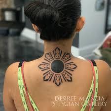 Filipino Sun Blackwork Tattoo Desireemancia Stygian Gallery