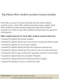 Medical Assistant Resume Samples Best Resume Templates
