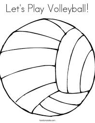 Volleyball Color Pages Lets Play Volleyball Coloring Page Color Pages Pinterest