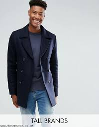 ted baker tall wool peacoat ykyzki7p jackets coats men s clothing ping in