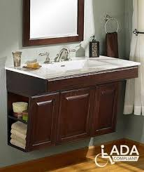 Cabinets and Hardware -- ADA Compliant Wall-Mounted Bathroom ...