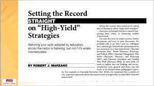 Marzanos High Probability Strategies Lessons Tes Teach