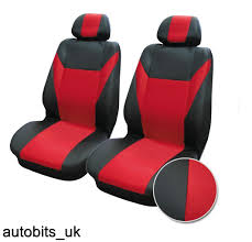 car seat covers front van motorhome bus mpv truck red black universal fabric 1 of 1free