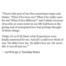 Tuesday Blues Quotes Unrequited Love Quotes Unrequited Love