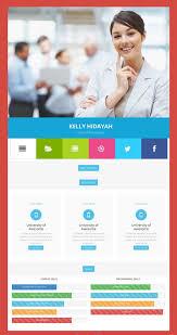 45 Best Html Resume Cv Vcard Templates Free Premium Freshdesignweb