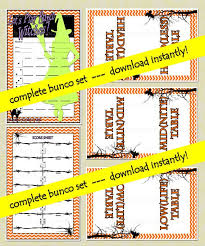 Bunco Score Sheets Template Custom Printable Halloween Bunco Cards By PrintBuncoCards On Etsy Bunco