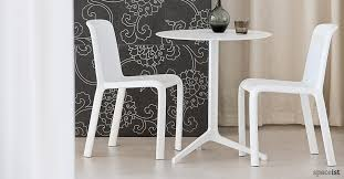 yipsilon white modern cafe tables 60cm dia