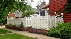 vinyl picket fence front yard.  Fence Vinyl Picket Fence Up To 6ft Over A Brick Or Stone Low And Picket Fence Front Yard L
