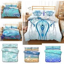bedroom ocean bedding set cotton duvet cover sets bed sheet pillow cover home textile mattress single king bed linen 3 pcs m bedding sets