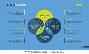 four circle venn diagram four sides venn diagram element vector photo bigstock
