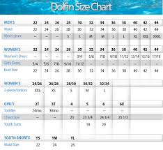 Dolfin Jammer Size Chart Nike Size Chart Tyr Size Chart Dolfin Size Chart